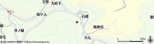愛知県豊田市九久平町(石橋)周辺の地図