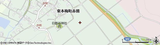 京都府亀岡市東本梅町赤熊(海尻)周辺の地図