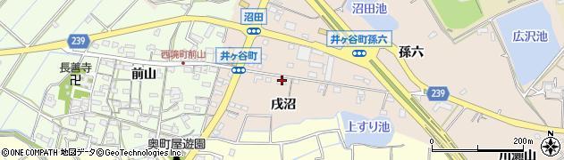 愛知県刈谷市井ケ谷町(戌沼)周辺の地図