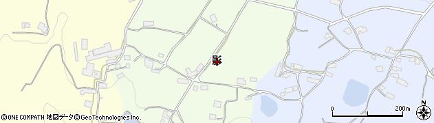 岡山県真庭市影周辺の地図