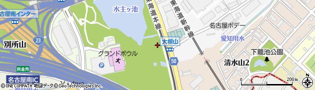 愛知県名古屋市緑区大高町(水主ケ池)周辺の地図