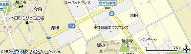 愛知県豊田市堤本町(川井)周辺の地図