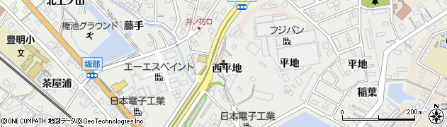 愛知県豊明市阿野町(西平地)周辺の地図
