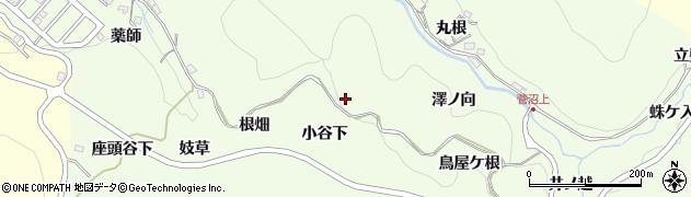 愛知県豊田市九久平町(小谷下)周辺の地図