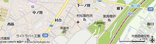 愛知県豊明市新田町(森西)周辺の地図