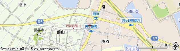 愛知県刈谷市井ケ谷町(沢渡)周辺の地図
