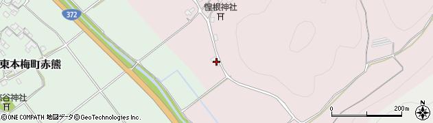 京都府亀岡市東本梅町松熊(木原)周辺の地図