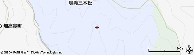 京都府京都市右京区鳴滝三本松周辺の地図