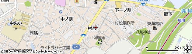 愛知県豊明市新田町(村合)周辺の地図