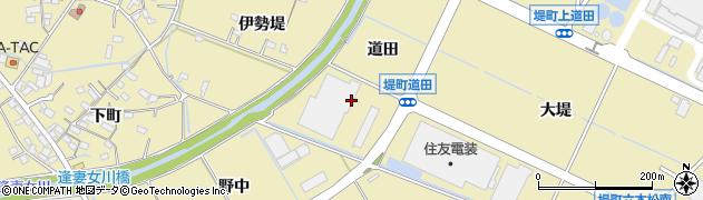 愛知県豊田市堤町(道田)周辺の地図