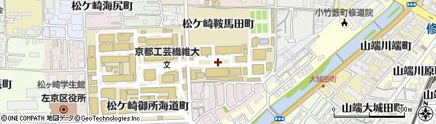 京都府京都市左京区松ケ崎橋上町周辺の地図