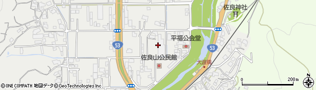 岡山県津山市平福周辺の地図