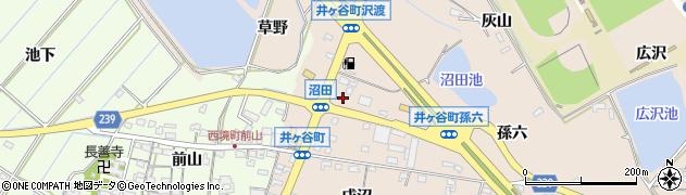 愛知県刈谷市井ケ谷町(沼田)周辺の地図
