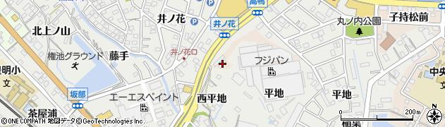 愛知県豊明市新田町(井ノ花)周辺の地図