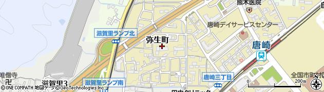 滋賀県大津市弥生町周辺の地図