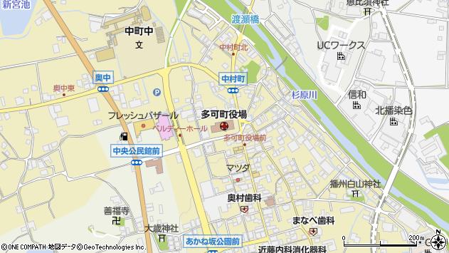〒679-1100 兵庫県多可郡多可町(以下に掲載がない場合)の地図