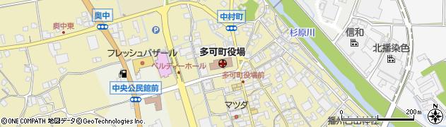 兵庫県多可郡多可町周辺の地図