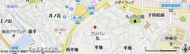 愛知県豊明市新田町(丸ノ内)周辺の地図