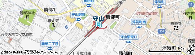 滋賀県守山市周辺の地図