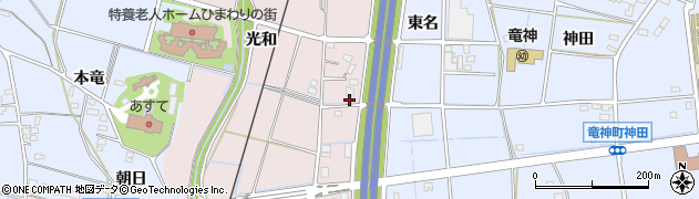 愛知県豊田市竹町(花田)周辺の地図