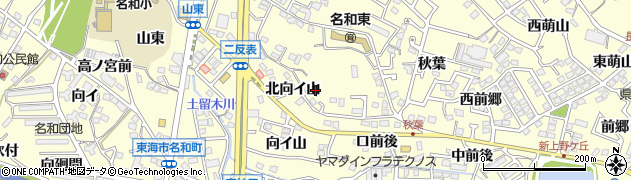 愛知県東海市名和町(南寺廻間)周辺の地図