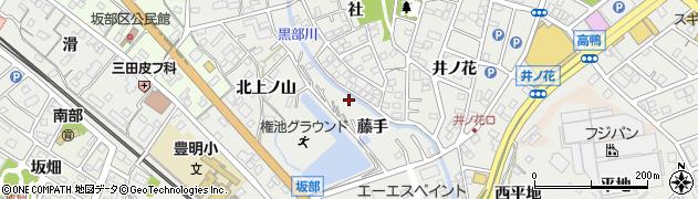 愛知県豊明市阿野町(藤手)周辺の地図