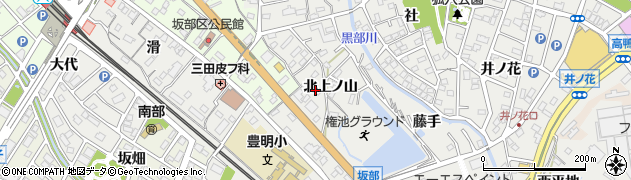 愛知県豊明市阿野町(北上ノ山)周辺の地図