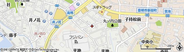 愛知県豊明市三崎町(丸ノ内)周辺の地図