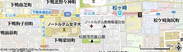 京都府京都市左京区松ケ崎芝本町周辺の地図