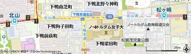 京都府京都市左京区下鴨南野々神町周辺の地図