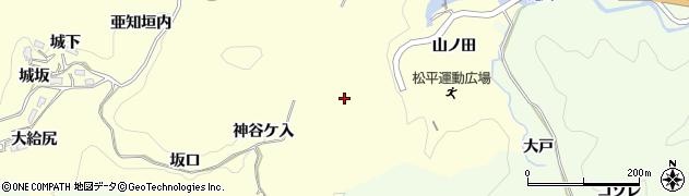 愛知県豊田市大内町(神谷ケ入)周辺の地図