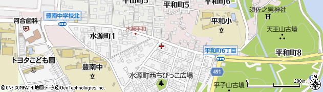 ろばた紗倶羅 平山店予約受付周辺の地図