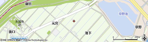 愛知県刈谷市西境町(元宮)周辺の地図