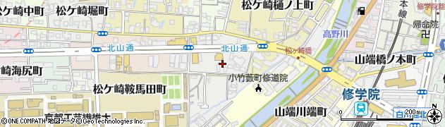 京都府京都市左京区松ケ崎小脇町周辺の地図