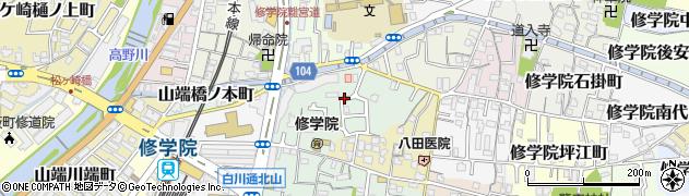 京都府京都市左京区修学院犬塚町周辺の地図