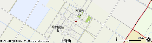 滋賀県草津市上寺町周辺の地図