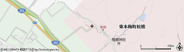 京都府亀岡市東本梅町松熊(吉ケ下)周辺の地図