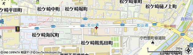 京都府京都市左京区松ケ崎雲路町周辺の地図