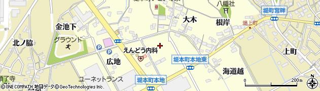 愛知県豊田市堤本町(本地)周辺の地図