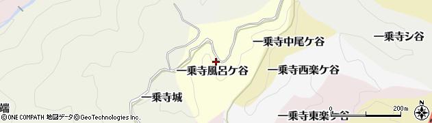 京都府京都市左京区一乗寺風呂ケ谷周辺の地図