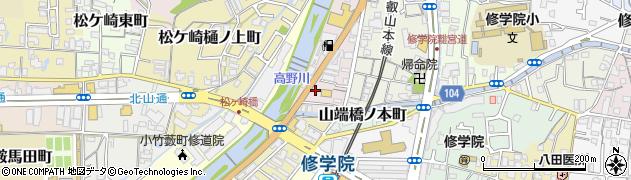 京都府京都市左京区山端川岸町周辺の地図