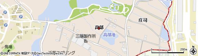 愛知県刈谷市井ケ谷町(高部)周辺の地図