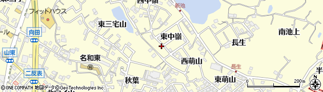 愛知県東海市名和町(東中嶺)周辺の地図
