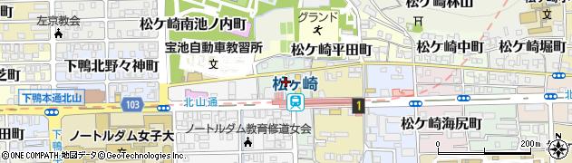 京都府京都市左京区松ケ崎井出ケ海道町周辺の地図