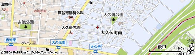 愛知県豊明市大久伝町(南)周辺の地図