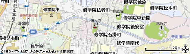 道入寺周辺の地図