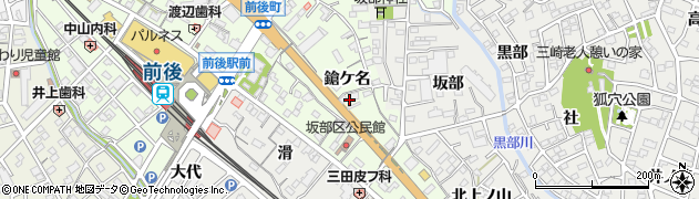 愛知県豊明市前後町(鎗ケ名)周辺の地図