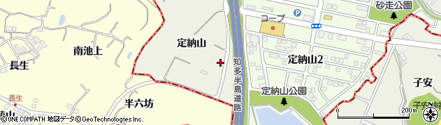 愛知県名古屋市緑区大高町(定納山)周辺の地図