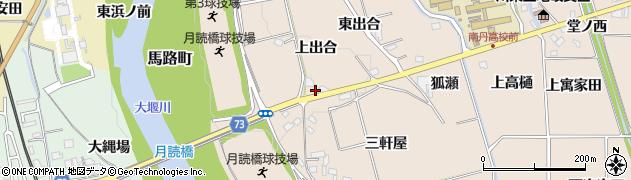 京都府亀岡市馬路町(上出合)周辺の地図