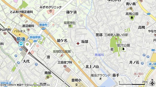 〒470-1147 愛知県豊明市阿野町坂部の地図